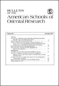 Bulletin of the American Schools of Oriental Research, Number 296 (November 1994)