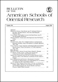 Bulletin of the American Schools of Oriental Research, Number 303 (August 1996)