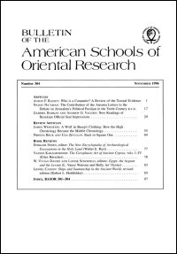 Bulletin of the American Schools of Oriental Research, Number 304 (November 1996)