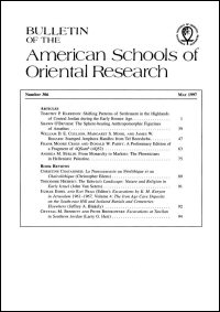 Bulletin of the American Schools of Oriental Research, Number 306 (May 1997)