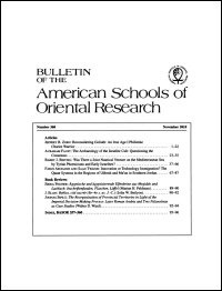 Bulletin of the American Schools of Oriental Research, Number 360 (November 2010)