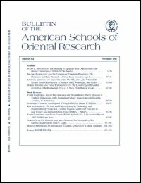 Bulletin of the American Schools of Oriental Research, Number 364 (November 2011)