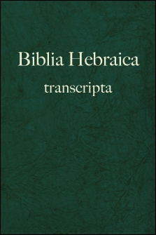 Biblia Hebraica transcripta