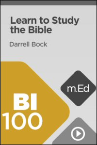 BI100 Learn to Study the Bible
