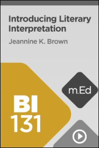 BI131 Introducing Literary Interpretation