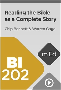 BI202 Reading the Bible as a Complete Story