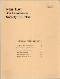 The Near East Archaeological Society Bulletin: New Series, Nos. 32–33, Winter 1989