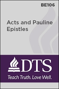 BE106 Acts and Pauline Epistles