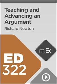 ED322 Teaching and Advancing an Argument