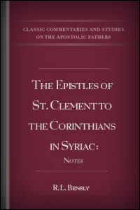 The Epistles of St. Clement to the Corinthians in Syriac: Notes
