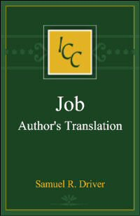 Authors' Translation from a Critical and Exegetical Commentary on the Book of Job
