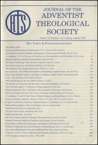 Journal of the Adventist Theological Society, Volume 10, Numbers 1 & 2, Spring–Autumn 1999