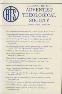 Journal of the Adventist Theological Society, Volume 12, Number 2, Autumn 2001
