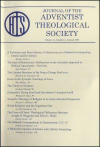 Journal of the Adventist Theological Society, Volume 14, Number 2, Autumn 2003