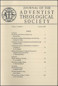 Journal of the Adventist Theological Society, Volume 1, Number 2, Autumn 1990