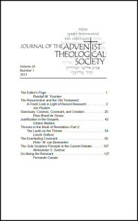 Journal of the Adventist Theological Society, Volume 24, Number 1, 2013