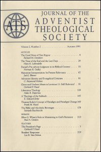 Journal of the Adventist Theological Society, Volume 2, Number 2, Autumn 1991