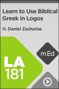 LA181 Learn to Use Biblical Greek