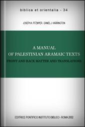 A Manual of Palestinian Aramaic Texts: Front and Back Matter and Translations