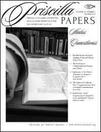 Priscilla Papers, Volume 29, Number 1, Winter 2015