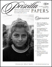 Priscilla Papers, Volume 29, Number 4, Autumn 2015