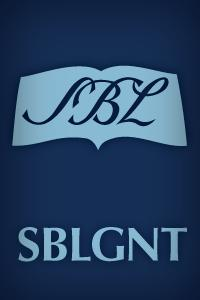 The Greek New Testament: SBL Edition