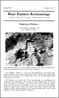 Near Eastern Archaeology: Bulletin of the Near Eastern Archaeological Society, Volume 1, No. 2, Spring 1958