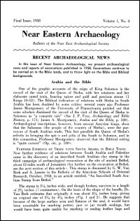Near Eastern Archaeology: Bulletin of the Near East Archaeological Society, Vol. 1, No. 4, 1958