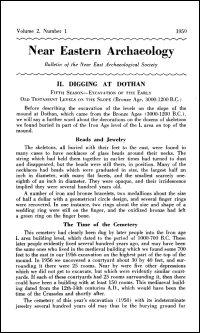 Near Eastern Archaeology: Bulletin of the Near East Archaeological Society, Volume 2, No. 1, 1959