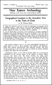 Near Eastern Archaeology: Bulletin of the Near East Archaeological Society, Vol. 7, No. 4, Winter 1964