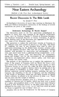 Near Eastern Archaeology: Bulletin of the Near East Archaeological Society, Volume 4, Nos. 1–2, Spring–Summer 1961