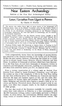 Near Eastern Archaeology: Bulletin of the Near East Archaeological Society, Volume 8, Nos. 1–2, Spring–Summer 1965