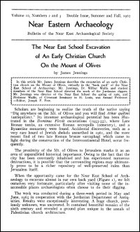 Near Eastern Archaeology: Bulletin of the Near East Archaeological Society, Volume 10, Nos. 2–3, Summer–Fall 1967