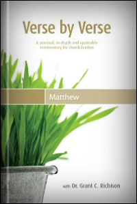 Verse by Verse through the Book of Matthew